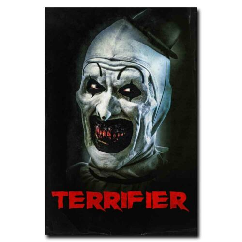 Terrifier 12x18//24x36inch Horror Movie Silk Poster Door Room Decal Cool Gifts