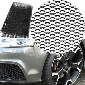 Aluminio-Coche-Rejilla-Neto-Malla-Parrilla-Panal-100-33cm-Grueso-1-5mm-Negro
