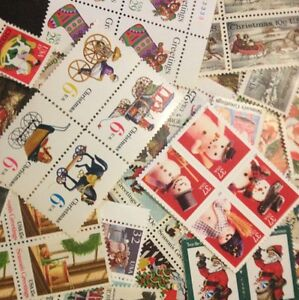 $5.00 face CHRISTMAS Stamps ranging from 4 Cent to FOREVER Dress Up Holiday Mail