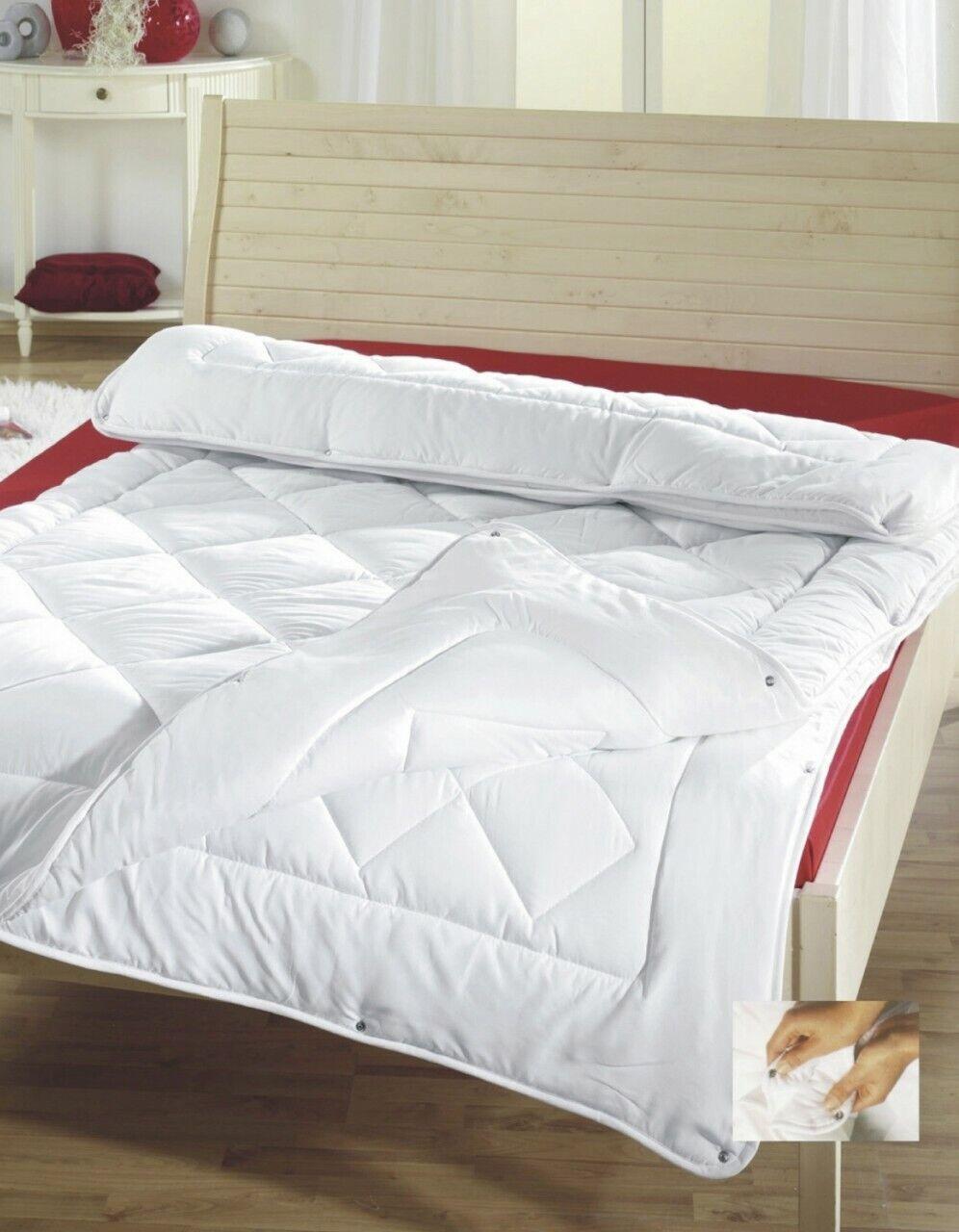 Steppbett 4-Jahreszeiten weiß, 135 x 200 cm Bettdecken
