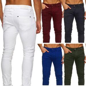 Herren-Biker-Jeans-Chino-Stretch-Hose-TONY-Vintage-Trend-Knie-Slim-Fit