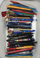 Huge Lot Various Ink Pens 130 Pilot Papermate Uniball Bic Vintage To Now
