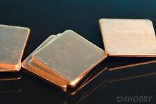 10 Kupferplättchen 20x20 0,3 0,5 0,8 1 1,2 Kupferpad CPU Wärmeleitplättchen Pad