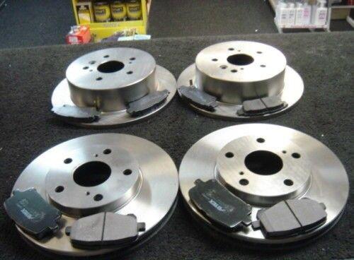 FRONT AND REAR BRAKE DISCS AND PADS FOR TOYOTA URBAN CRUISER 1.4D-4D 5/2009-