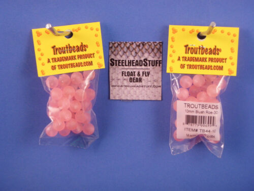 Troutbeads Blush Roe 8mm  Trout Bead Egg Steelhead $2.50 US Combined Ship*