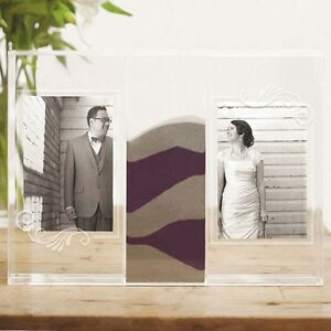 Clearly Love Unity Sand Wedding Ceremony Shadow Box Photo Frames