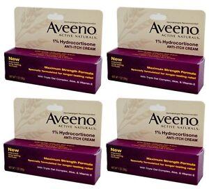 4-Paquet-Aveeno-puissance-Maximum-Anti-demangeaisons-Creme-1-Hydrocortisone