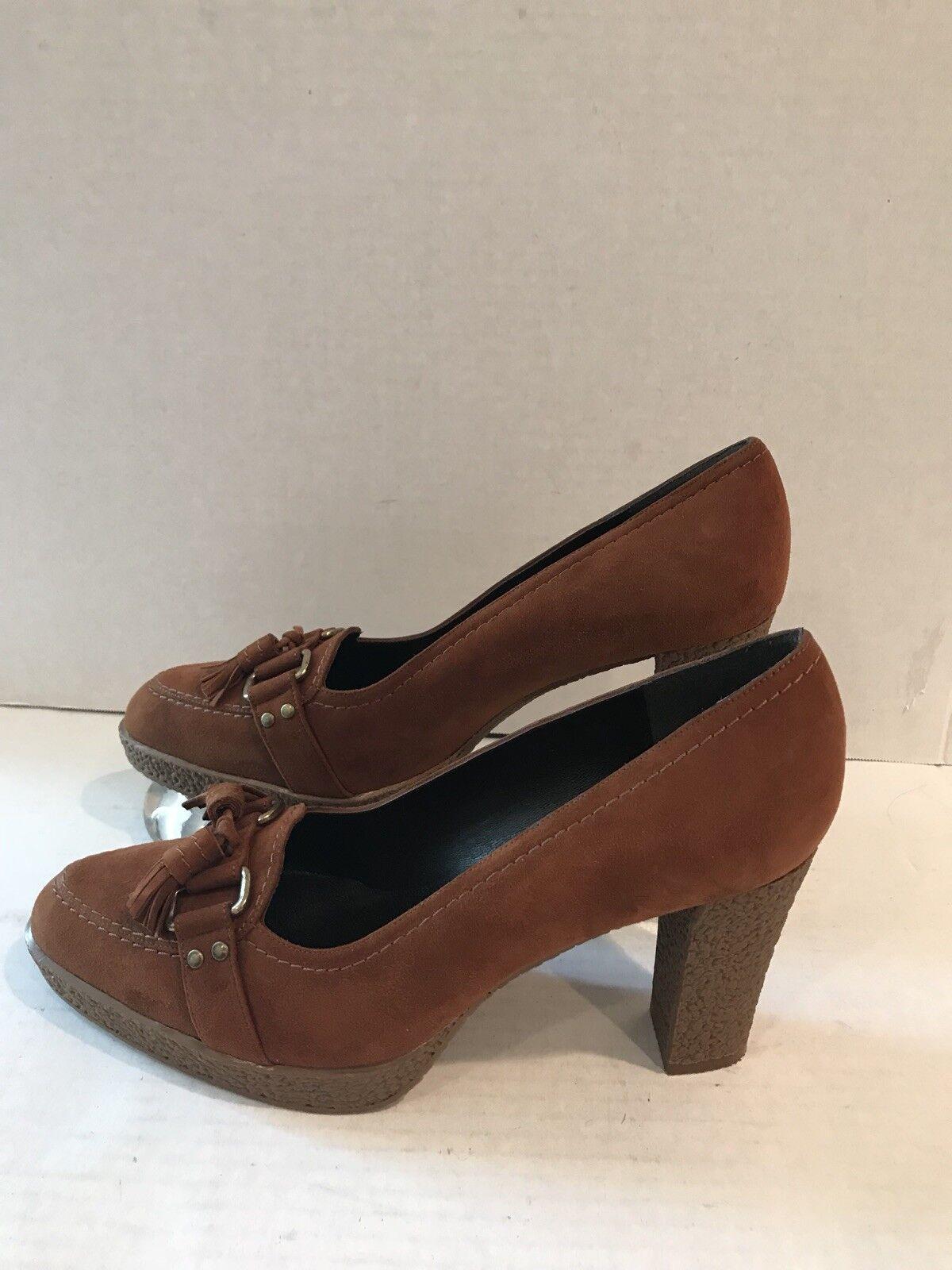 Stuart Weitzhomme Femmes Chaussures Daim Marron Talon Pointure 8M 3w51659