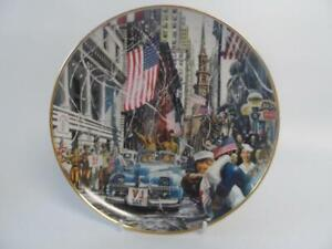 FRANKLIN-MINT-WW-II-USA-SOLDIERS-VJ-DAY-PLATE
