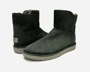 f0b93d20c2d Details about UGG CLASSIC LUXE COLLECTION ABREE MINI BOOTS GRIGIO GRAY  SHEEPSKIN US 9 -NEW