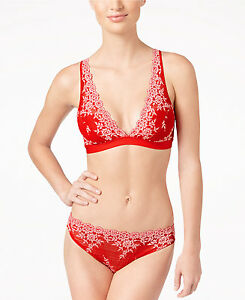 3a94ae56d6302 Image is loading Tango-Red-Wacoal-Embrace-Lace-Soft-Cup-Wireless-