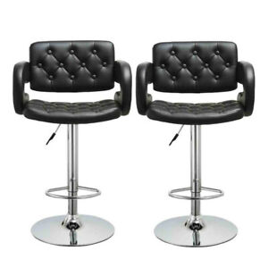 Set-of-2-Bar-Stools-Vintage-PU-Leather-Counter-Height-Kitchen-Dining-Pub-Chairs