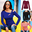 Women-Long-Sleeve-Cut-Out-Cold-Shoulder-Top-Ladies-Bodycon-Casual-T-Shirt-Blouse thumbnail 7