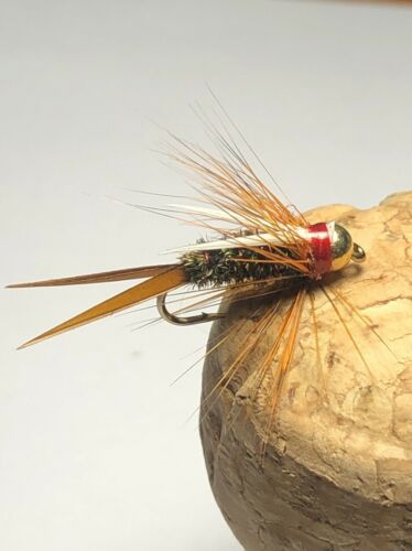 Tungsten Bead Head Prince Nymph Fly Fishing Flies Set Of 3 Size 12.