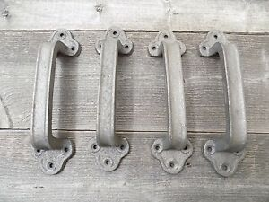 4-Cast-Iron-Handles-Door-Hardware-Pull-Gate-Shed-Drawer-Cabinet-Barn-Shed-Gate