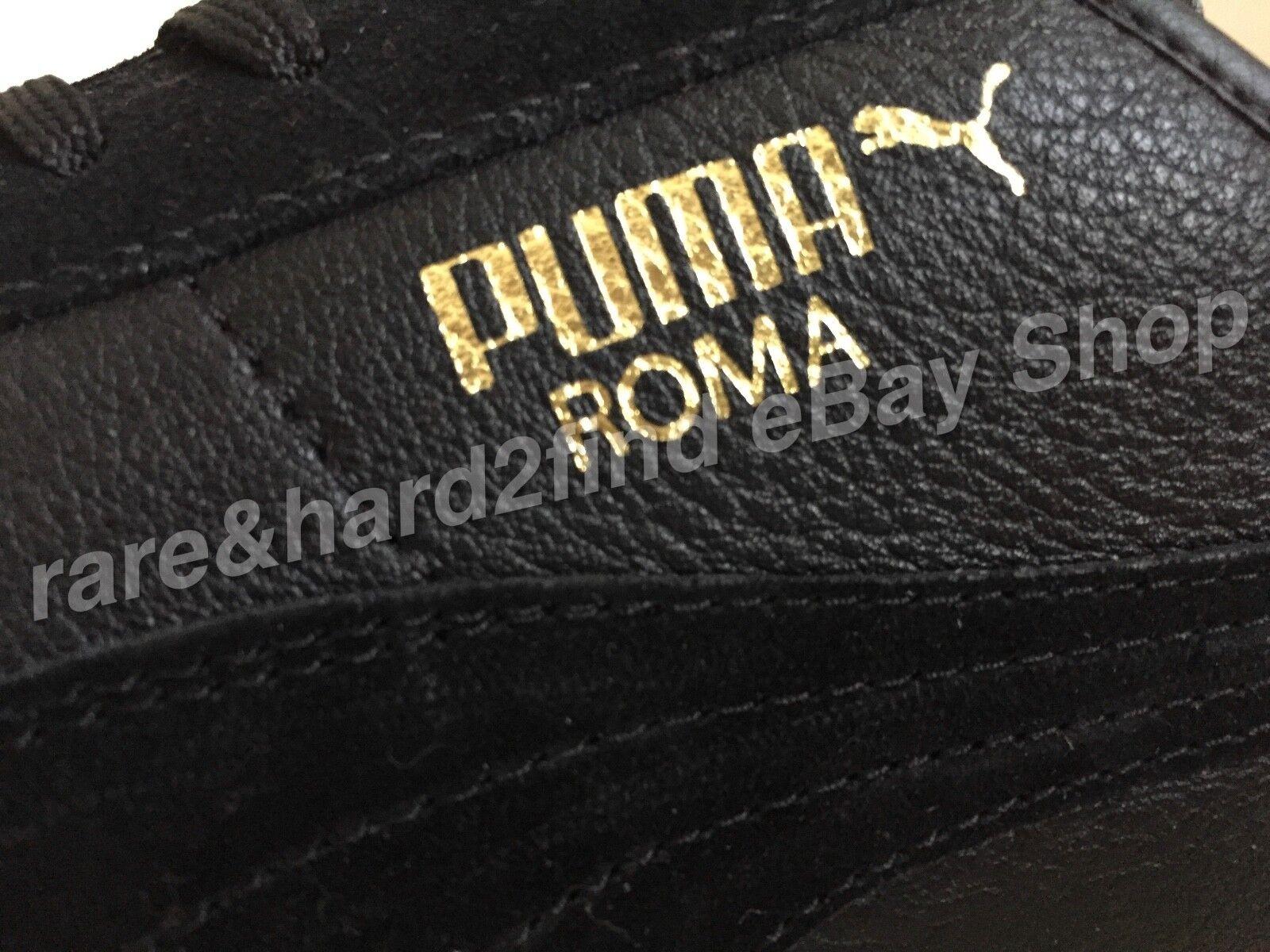 Puma Roma in Pelle Nera  ginnastica  da ginnastica  edizione limitata 498f7f