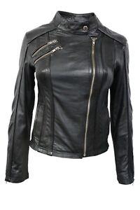 nappaleder biker dames Zwart echt stijlvolle jas Luxe stijlontwerp Italiaans 6zYq1F0nn