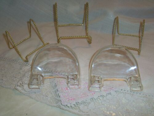 Twisted Wire and  Dome Lot of 5 Assortesd Plate or Photo Stands