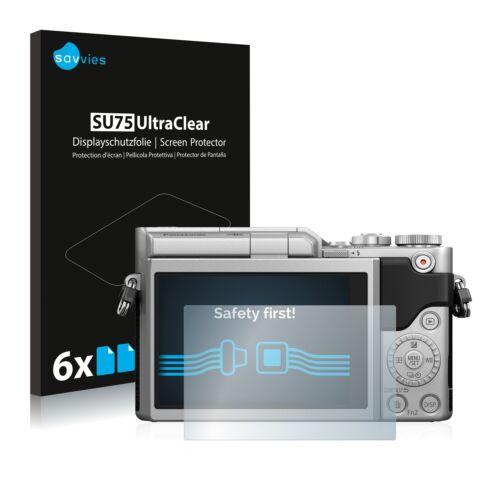 6x Panasonic Lumix dc-gx880 Proteggi Schermo Chiaro Pellicola Protettiva Display Pellicola