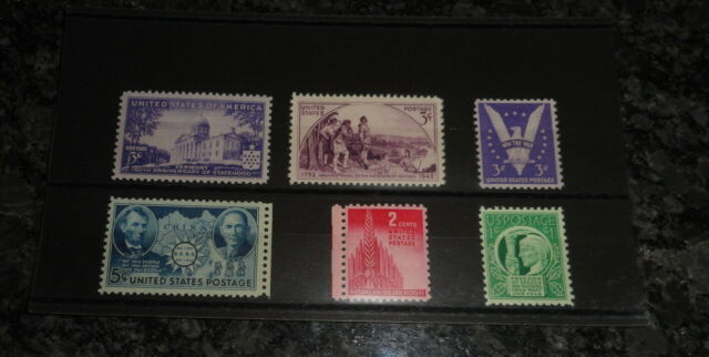 1941 43 Us Commemoratives Stamp Set All Mnh On A Brand New Approval Card