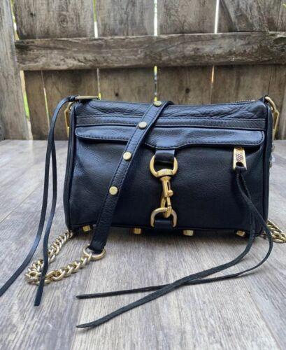 Rebecca Minkoff  Mac Clutch 🖤 Crossbody Bag Leath