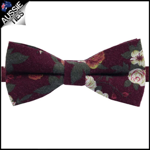 MENS FLORAL BOW TIE flowers flower bow Cotton High Quality flowery bowtie