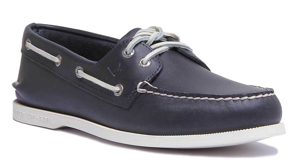 Sperry Sts10405 Men Leather Matt Navy Boat shoes Size UK 6 - 12