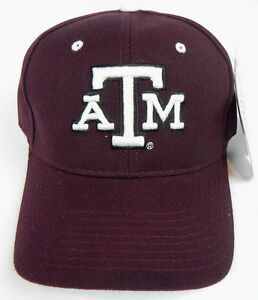 769e61bd71c TEXAS A M AGGIES MAROON NCAA VINTAGE FITTED SIZED ZEPHYR DH CAP HAT ...