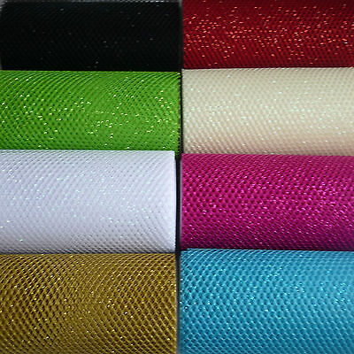 2 metre x15cm Glitter Honeycomb Net in 8 Colours use Cards/Table Runners/Favours