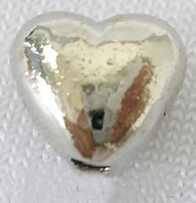 30 Tibetan Silver Love Heart Beads / Charms - Puffy 3D Hearts - NF - TS124