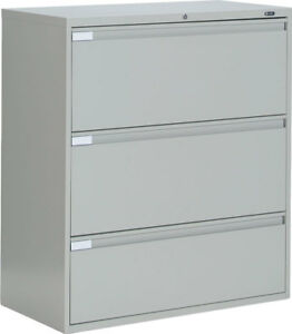 Image Is Loading Metal 3 Drawer Lateral File Cabinet Office Furniture