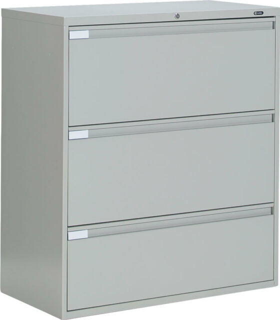 metal 3 drawer lateral file cabinet office furniture for sale online rh ebay com 3 drawer lateral file cabinet white three drawer lateral file cabinet wood