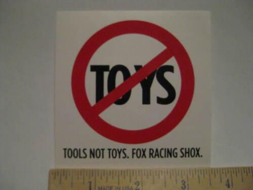 FOX RACING SHOX NO TOYS MTB MX ATV Truck Car Mountain Bike Bicycle DECAL STICKER