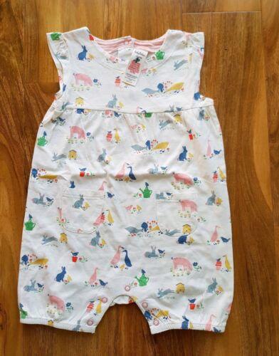 Mini Boden Bébé sans manches de basse-cour ange coton BIO 18-24 mois NEUF Y0246
