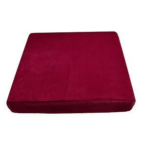Mf54t Light Wine Red Microfiber Velvet 3D Box Seat Cushion Cover Custom size