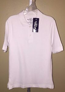 Boy/'s Sahara Club White Short Sleeve Polo Uniform Shirt 5 7 Sizes 4 6
