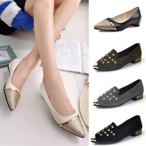 Fashion-Ladies-Women-039-s-Summer-Shoes-Pointed-Toe-Casual-Shoes-Low-Heel-Flat-Shoes