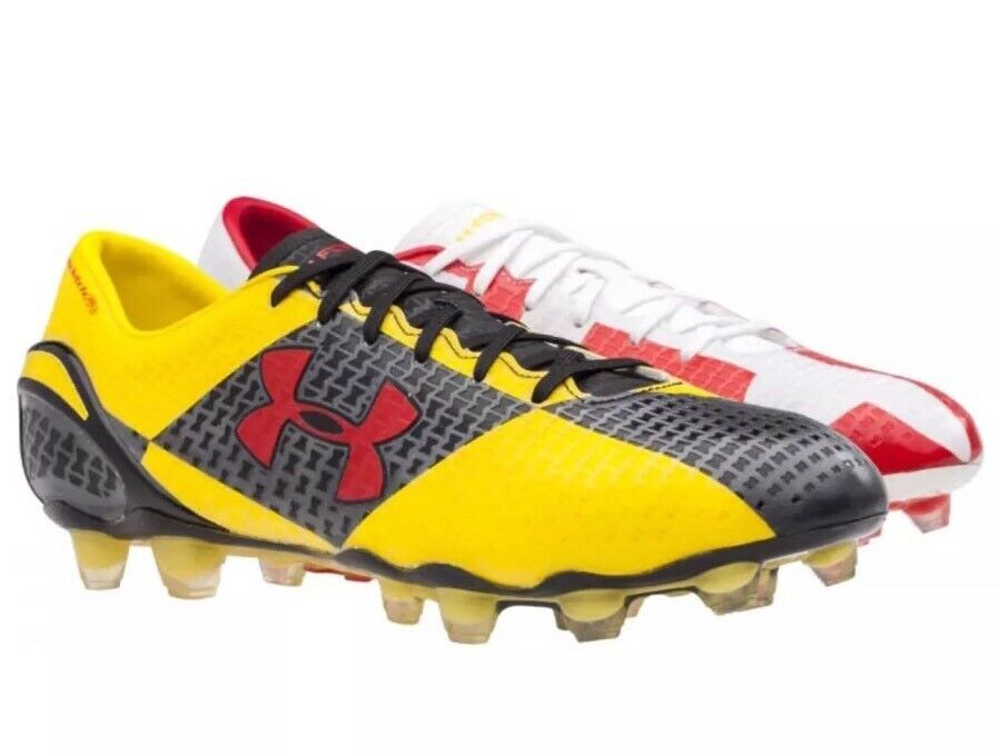 Under Armour Clutchfit Force FG Maryland Soccer Cleats 1255307-105 uomo Size 8 Scarpe classiche da uomo