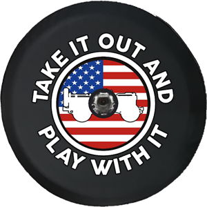 fits Jeep JL Spare Tire Cover Take It Out Play American Flag Military Offroad