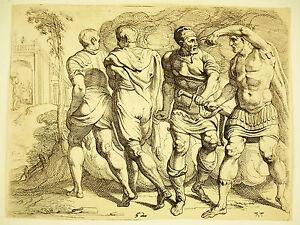 Discret Odysée D'ulysse Théodore Van Thulden 1633 D'ap Le Primatice Odyssey Of Ulysse 52 Gagner Une Grande Admiration
