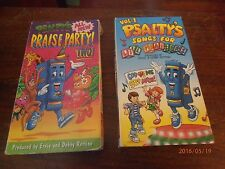 Rare Psalty's Songs for Lil Praisers Vol. 1 & Psalty's Praise Party! Two 2 VHS