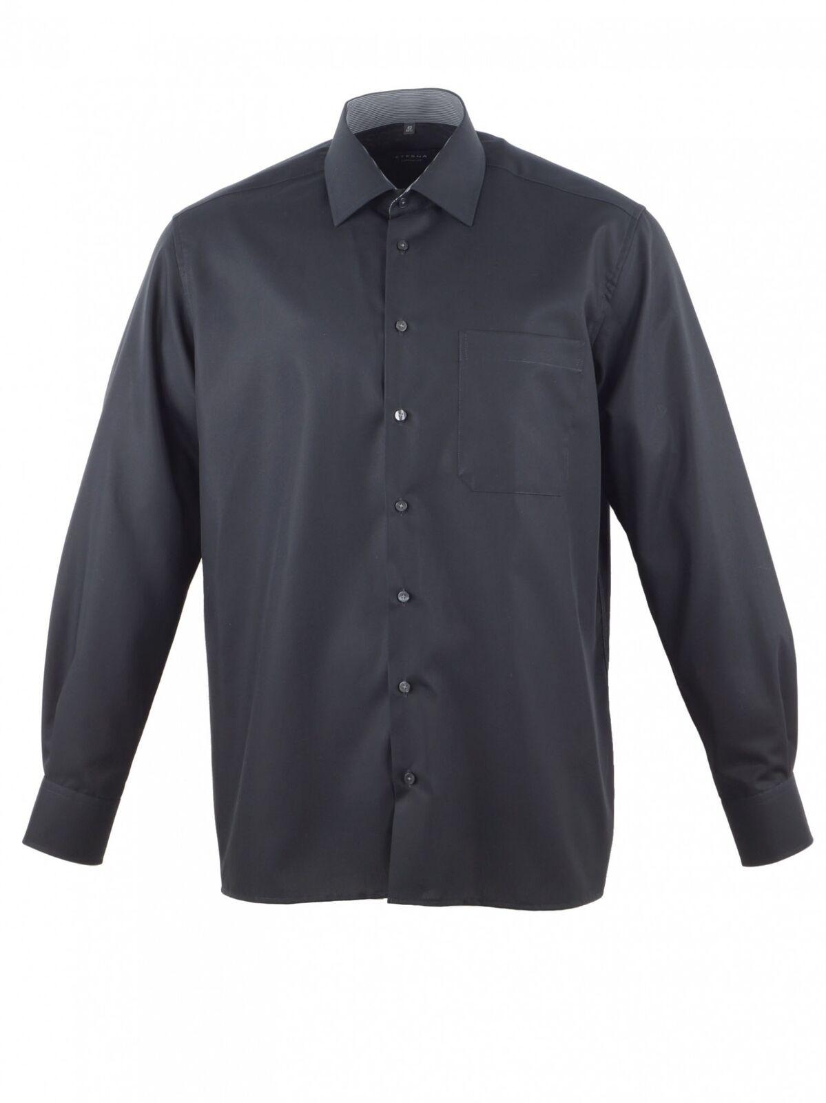 Eterna Herren Hemd Langarm L 42 Comfort Fit Schwarz 1003 39 E14E | Zu einem erschwinglichen Preis