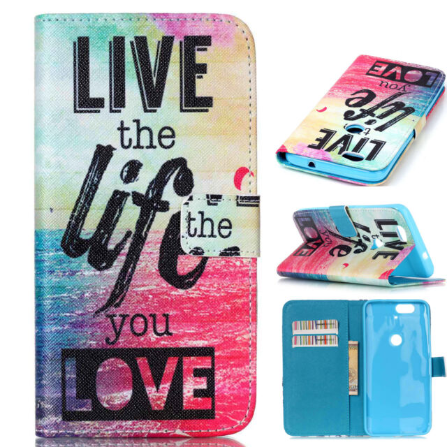 PU Leather Magnetic Flip Cover Stand Wallet Case Cover For Smart Cell Phones