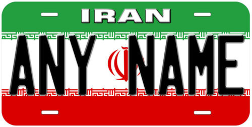 Iran Flag Any Name Personalized Novelty Car License Plate