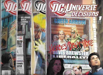 4 Complete Run D.C Comics  CB5755 D.C 3 2 Universe Decisions #1