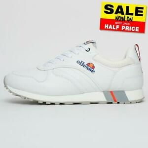 Ellesse-Dion-Heritage-Mens-Casual-Classic-Retro-Fashion-Trainers-White