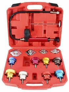 Universal Radiator Pressure Tester Kit 14Pc Cooling System Test Detector Tool
