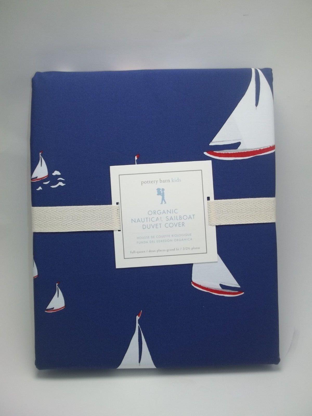 POTTERY BARN Kids nautique voilier Housse de couette Complet reine  818