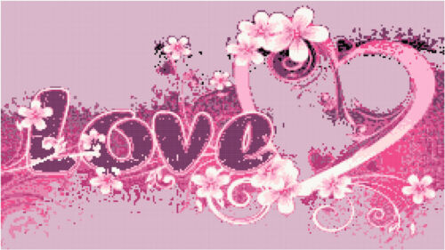 Cross Stitch Chart Love /& Frangipani