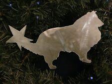 Shetland Sheep Dog, Sheltie Doggie Tree Topper, Wreath Decor, Holiday, Christmas